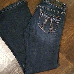7 for all mankind flare bottom jeans